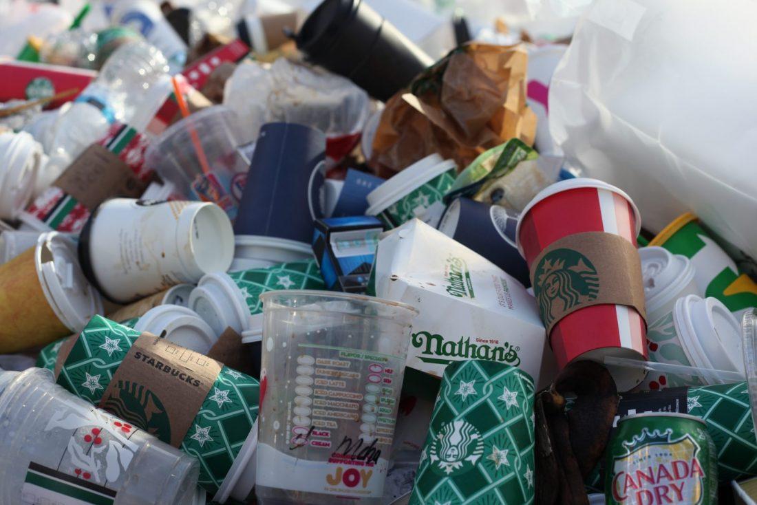 odpadky, plast